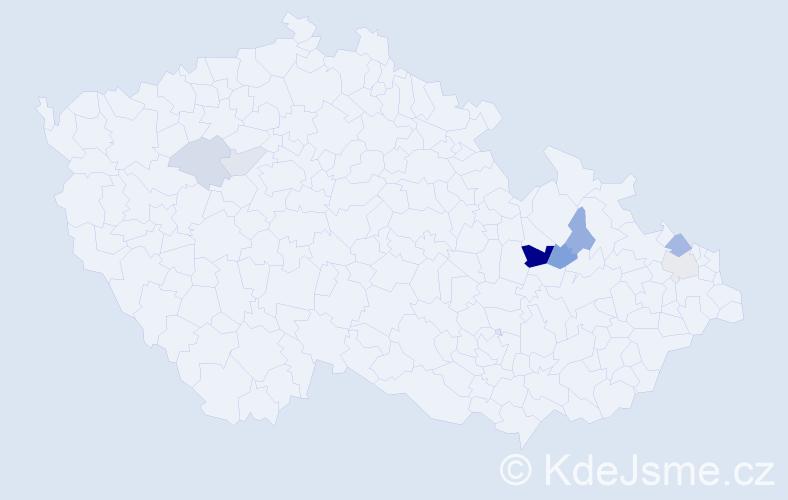 Příjmení: 'Čislinská', počet výskytů 14 v celé ČR