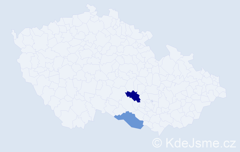 Příjmení: 'Čacho', počet výskytů 9 v celé ČR