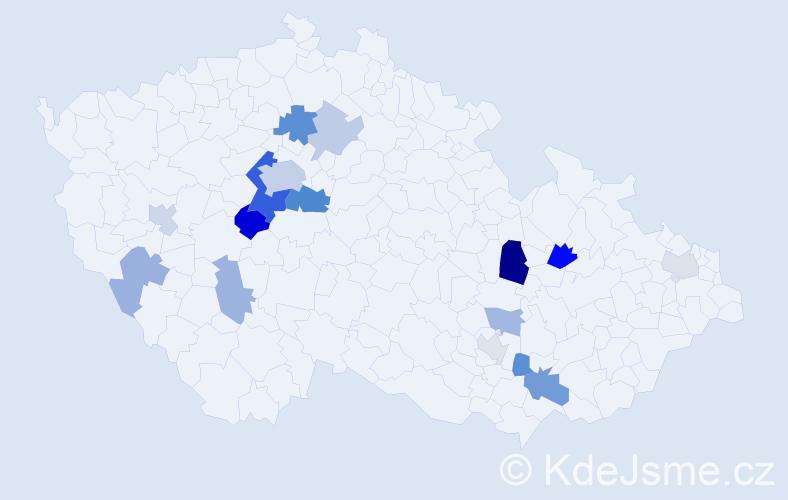 Příjmení: 'Alexandr', počet výskytů 35 v celé ČR