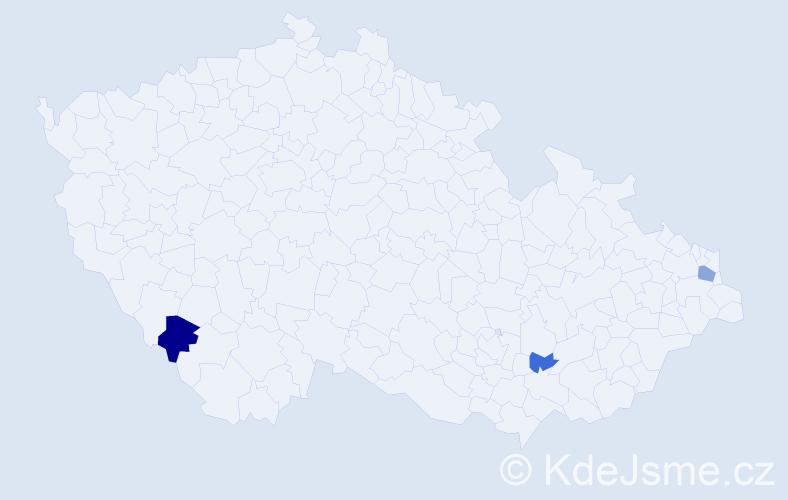 Příjmení: 'Láničková', počet výskytů 5 v celé ČR