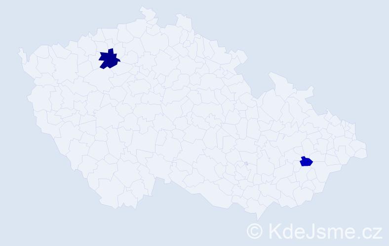 Příjmení: 'Krepler', počet výskytů 4 v celé ČR