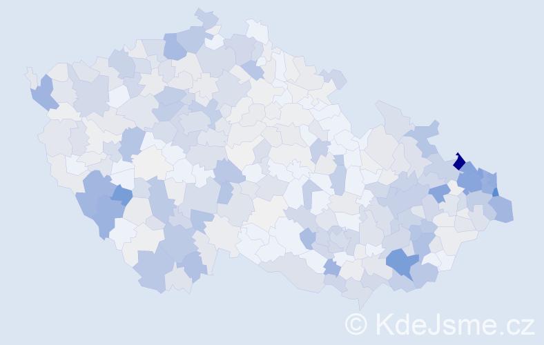 Příjmení: 'Duda', počet výskytů 2362 v celé ČR