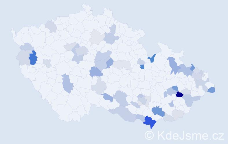 Příjmení: 'Kudlík', počet výskytů 152 v celé ČR