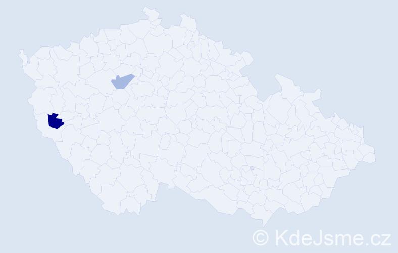 Příjmení: 'Iljinová', počet výskytů 2 v celé ČR
