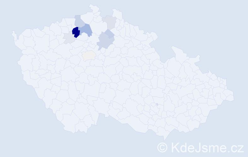 Příjmení: 'Kofrová', počet výskytů 40 v celé ČR