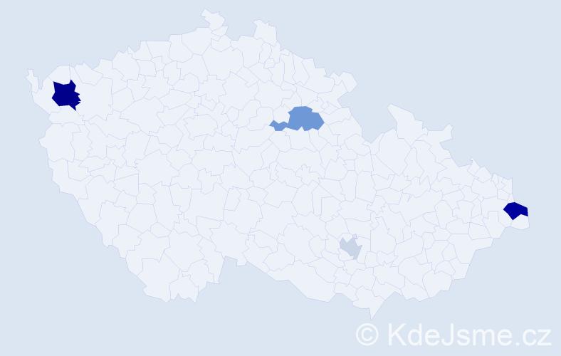 Příjmení: 'Brandis', počet výskytů 10 v celé ČR