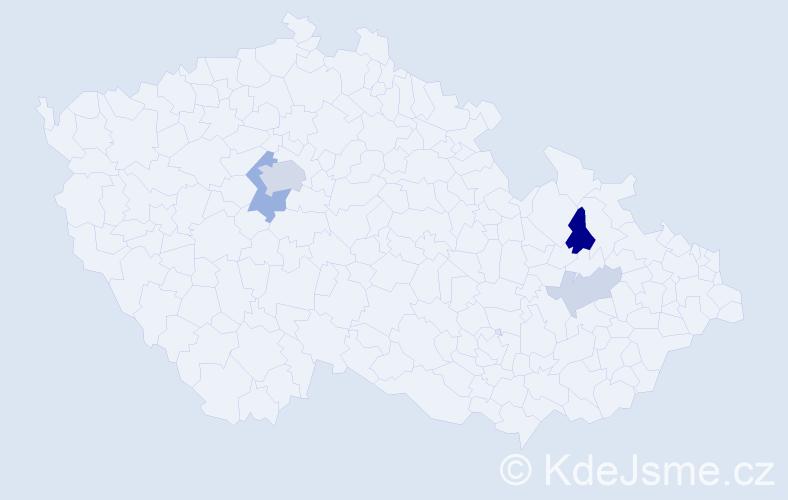 Příjmení: 'Jaroševská', počet výskytů 10 v celé ČR