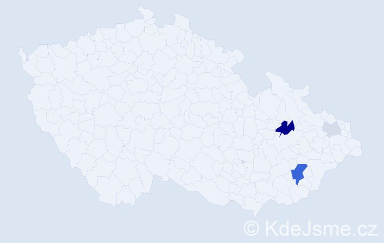 Příjmení: 'Koupelka', počet výskytů 7 v celé ČR