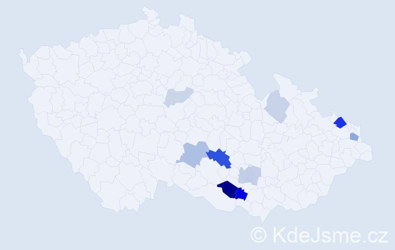 Příjmení: 'Kampasová', počet výskytů 27 v celé ČR