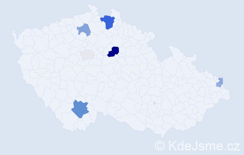 Příjmení: 'Laluch', počet výskytů 13 v celé ČR
