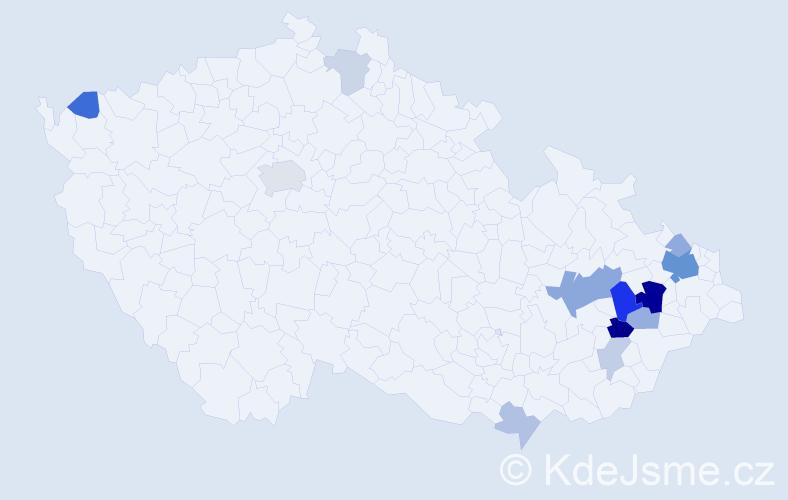 Příjmení: 'Irgl', počet výskytů 33 v celé ČR
