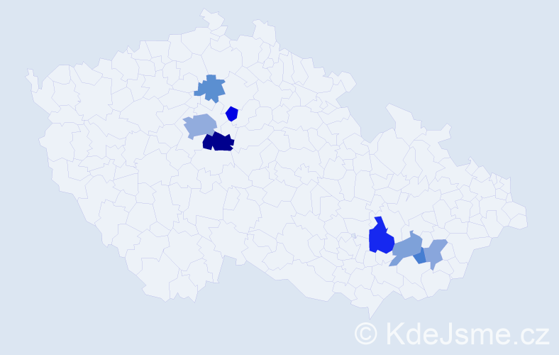 Příjmení: 'Eimová', počet výskytů 17 v celé ČR