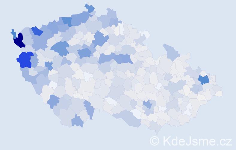 Příjmení: 'Nguyen', počet výskytů 12800 v celé ČR