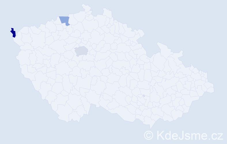 Příjmení: 'Kilarská', počet výskytů 4 v celé ČR