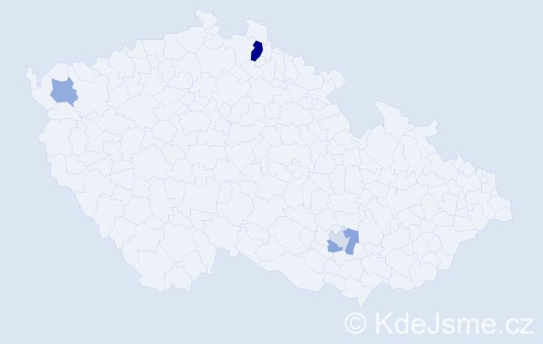 Příjmení: 'Jörg', počet výskytů 7 v celé ČR