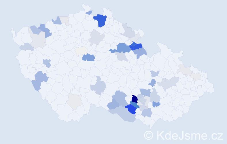 Příjmení: 'Čiháčková', počet výskytů 169 v celé ČR