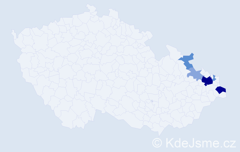 Příjmení: 'Galičáková', počet výskytů 17 v celé ČR