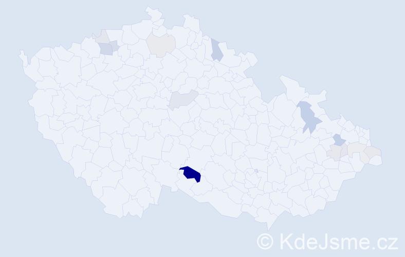 Příjmení: 'Fuňák', počet výskytů 31 v celé ČR