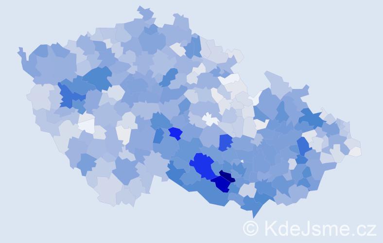 Příjmení: 'Čech', počet výskytů 6416 v celé ČR