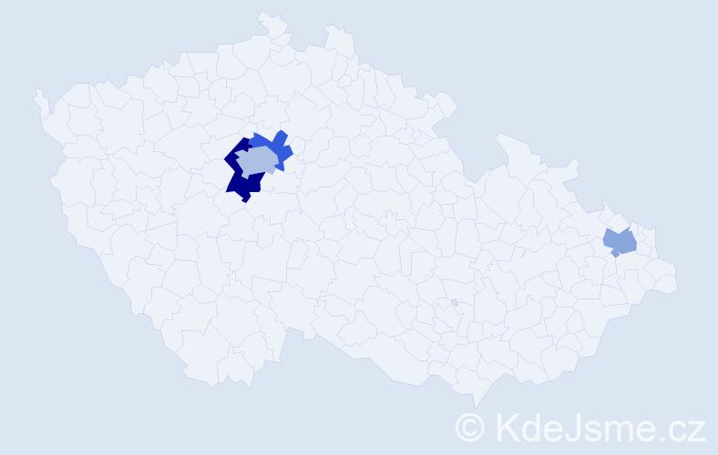 Příjmení: 'Chomiak', počet výskytů 6 v celé ČR