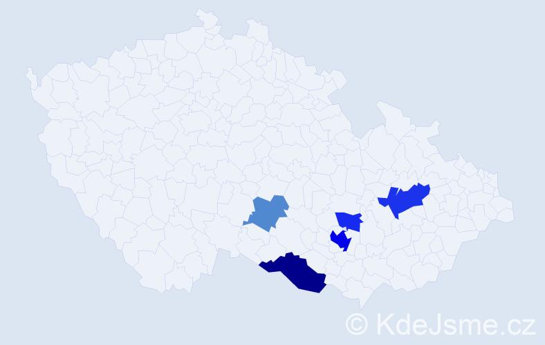 Příjmení: 'Lengalová', počet výskytů 11 v celé ČR