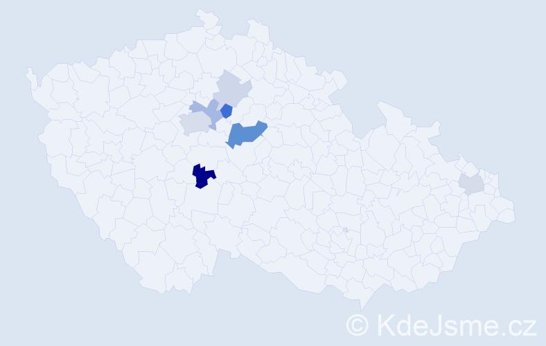 Příjmení: 'Heverle', počet výskytů 20 v celé ČR