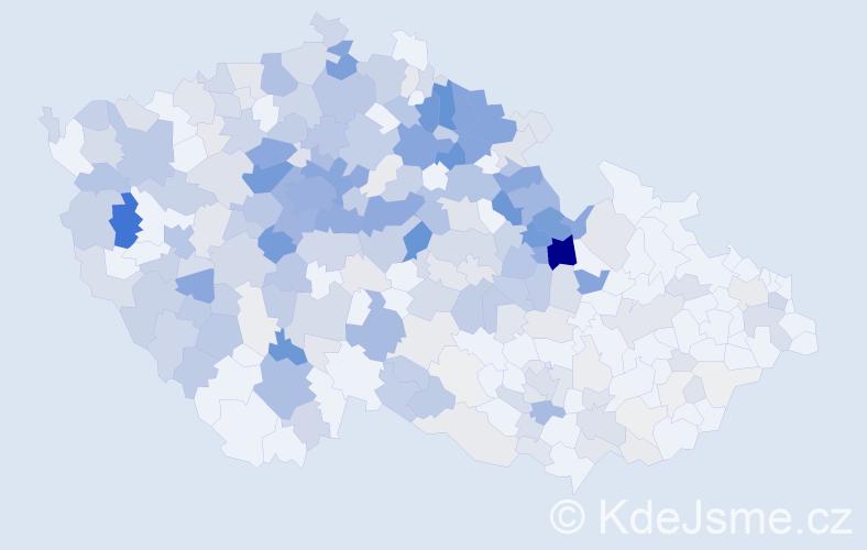 Příjmení: 'Junek', počet výskytů 1149 v celé ČR