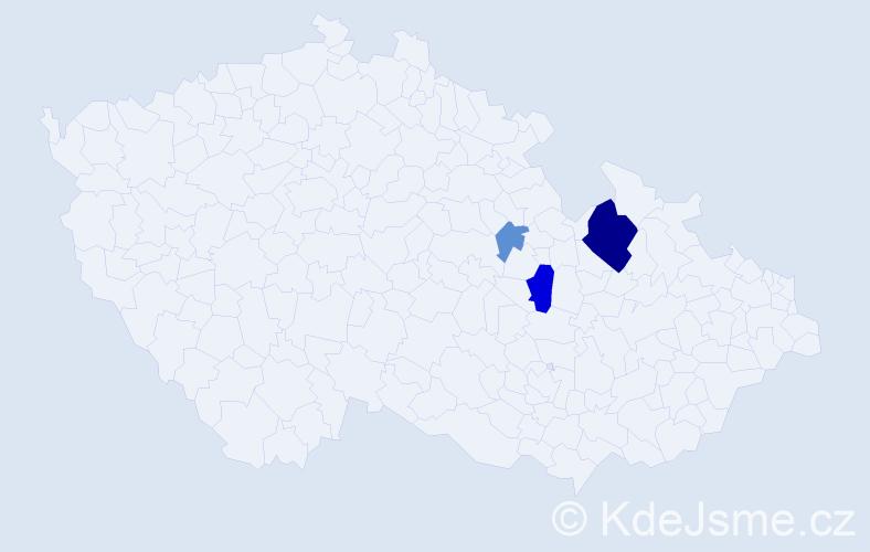 Příjmení: 'Ačová', počet výskytů 8 v celé ČR