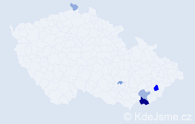Příjmení: 'Janéska', počet výskytů 12 v celé ČR