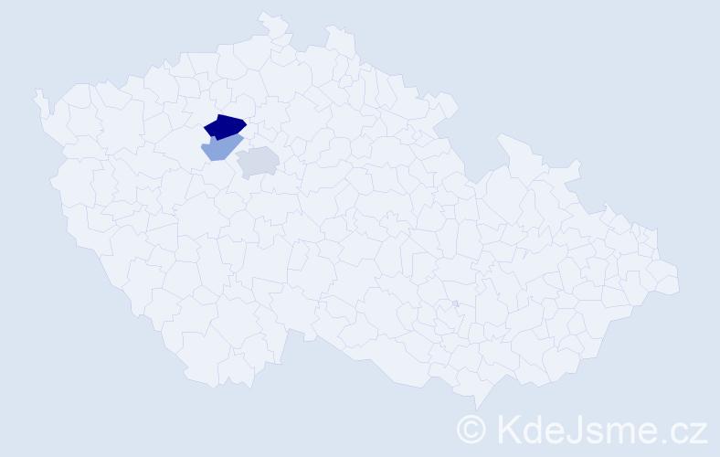 Příjmení: 'Céová', počet výskytů 5 v celé ČR