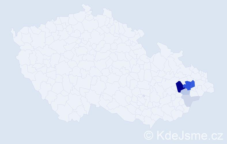Příjmení: 'Erla', počet výskytů 20 v celé ČR