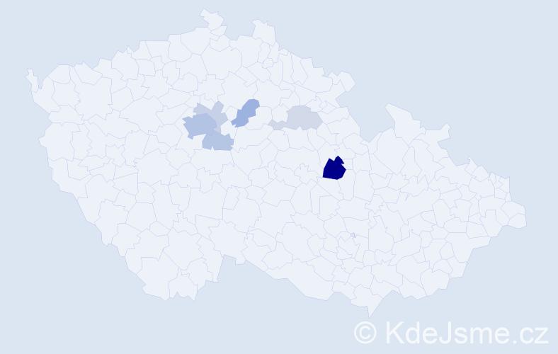Příjmení: 'Andrsová', počet výskytů 21 v celé ČR