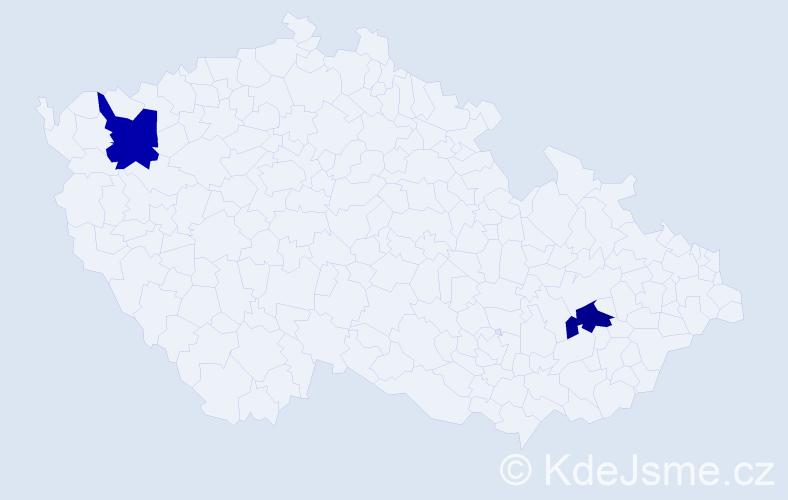 Příjmení: 'Halilová', počet výskytů 2 v celé ČR