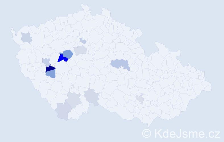 Příjmení: 'Eismann', počet výskytů 48 v celé ČR