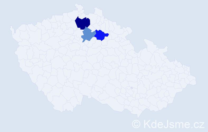 Příjmení: 'Bárto', počet výskytů 4 v celé ČR