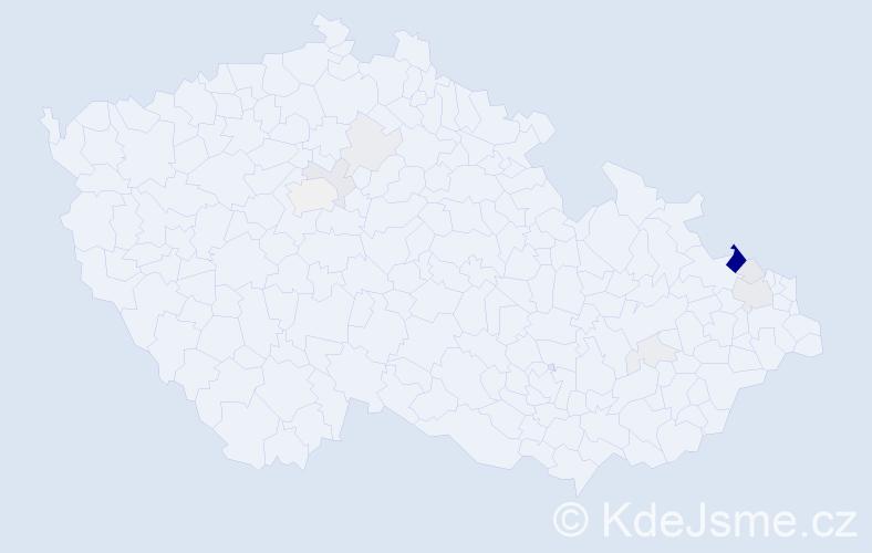 Příjmení: 'Krautwurst', počet výskytů 34 v celé ČR