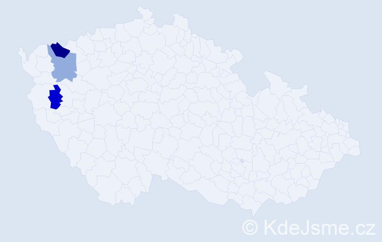 Příjmení: 'Čerepešová', počet výskytů 4 v celé ČR