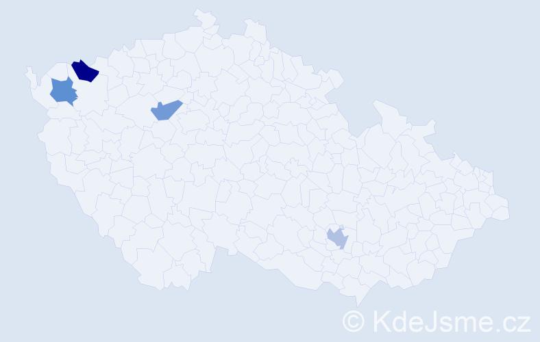 Příjmení: 'Alfonsová', počet výskytů 4 v celé ČR