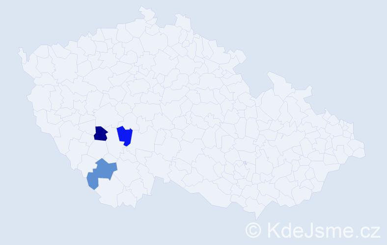 Příjmení: 'Iglauerová', počet výskytů 3 v celé ČR