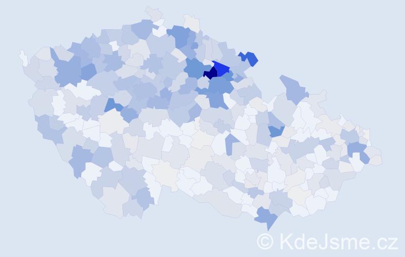 Příjmení: 'Hlavatá', počet výskytů 1625 v celé ČR