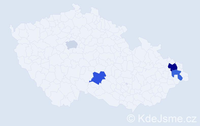 Příjmení: 'Čarnoký', počet výskytů 7 v celé ČR