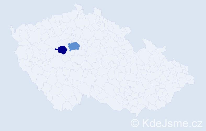 Příjmení: 'Breila', počet výskytů 6 v celé ČR