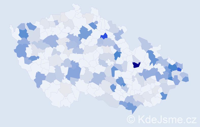Příjmení: 'Kováčik', počet výskytů 365 v celé ČR
