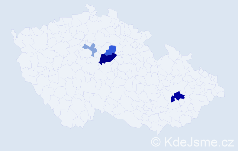 Příjmení: 'Jakubálová', počet výskytů 10 v celé ČR