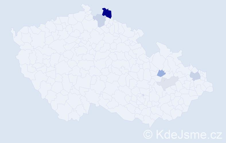 Příjmení: 'Kolarovičová', počet výskytů 14 v celé ČR