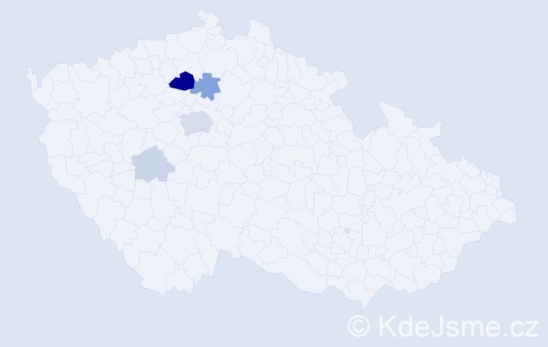Příjmení: 'Fíček', počet výskytů 16 v celé ČR