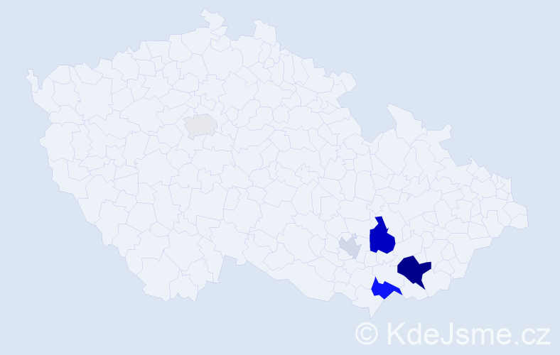 Příjmení: 'Barušová', počet výskytů 13 v celé ČR