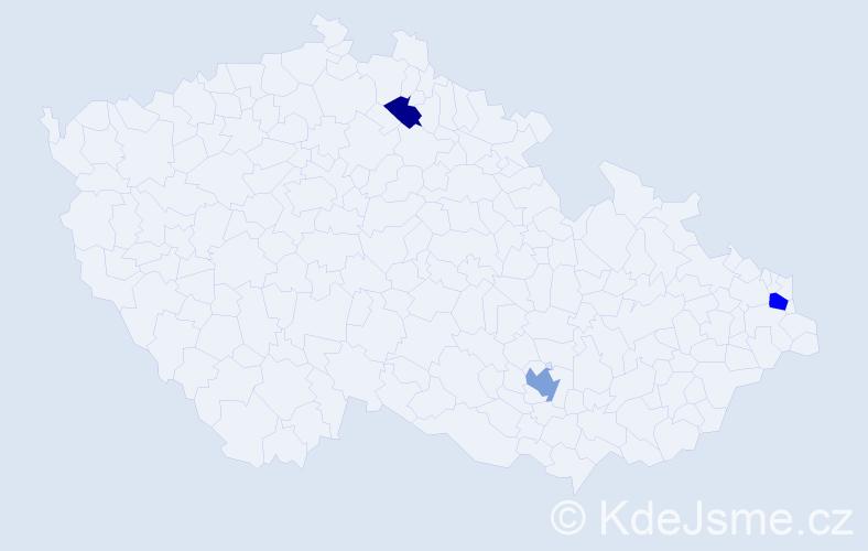 Příjmení: 'Kurjanová', počet výskytů 5 v celé ČR
