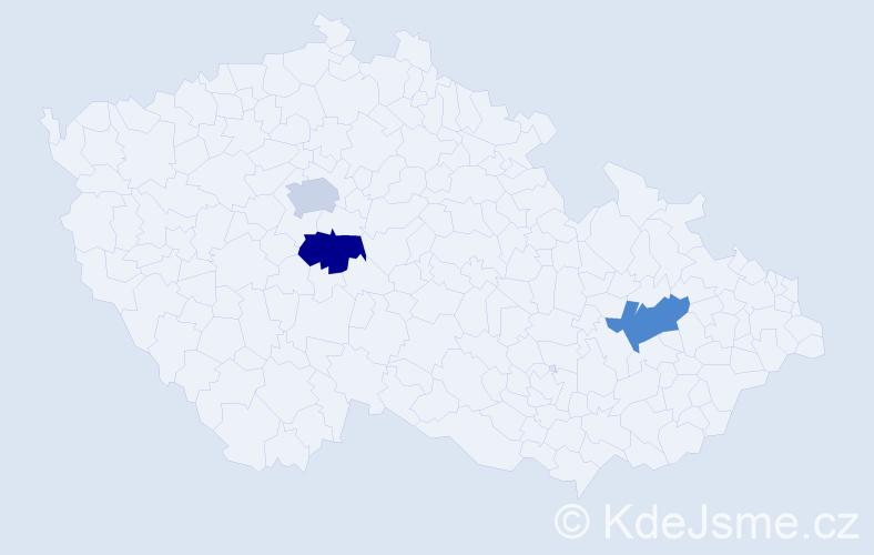 Příjmení: 'Danovová', počet výskytů 3 v celé ČR