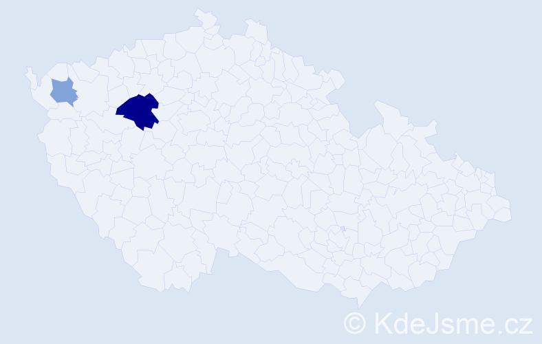 Příjmení: 'Daenemark', počet výskytů 4 v celé ČR